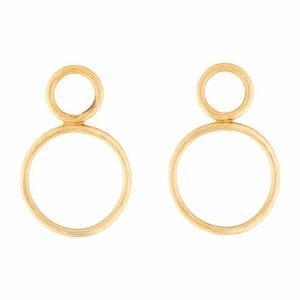 14k Yellow Gold 9.5g Hammered Earrings New!